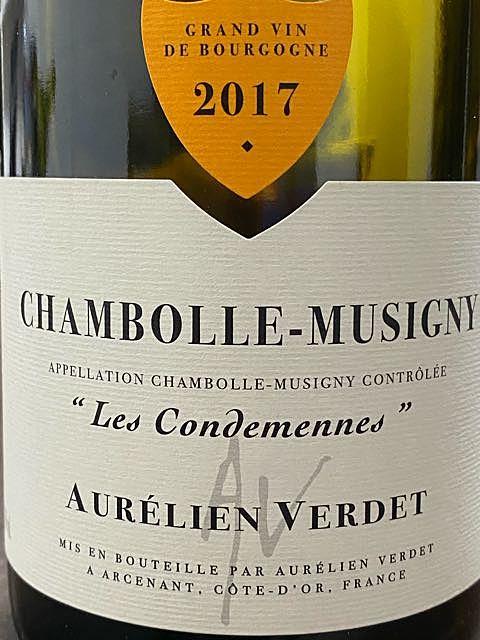 Aurélien Verdet Chambolle Musigny Les Condemenes