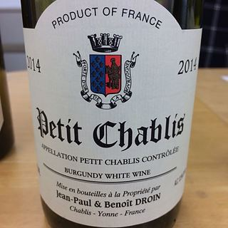 Jean Paul & Benoit Droin Petit Chablis
