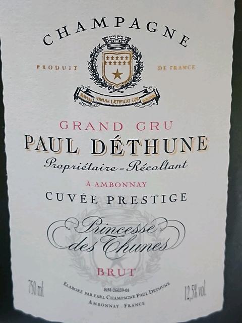 Paul Déthune Brut Cuvée Prestige Princesse des Thune