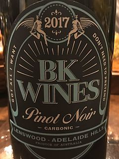 BK Wines Carbonic Pinot Noir