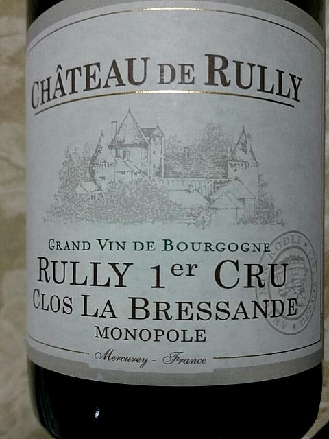 Antonin Rodet Ch. de Rully Rully 1er Cru Clos la Bressande Monopole(アントナン・ロデ シャトー・ド・リュリー リュリー プルミエ・クリュ クロ・ラ・ブレッサン モノポール)