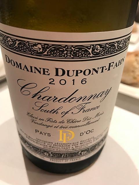 Dom. Dupont Fahn Chardonnay Fûts neufs
