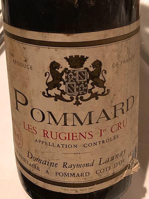 Dom. Raymond Launay Pommard Les Rugiens 1er Cru(ドメーヌ・レイモン・ローネイ ポマール レ・リュジアン プルミエ・クリュ)