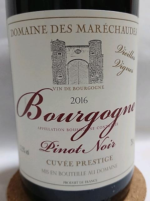 Dom. des Maréchaudes Bourgogne Pinot Noir Cuvée Prestige Vieilles Vignes