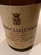 ボノー・デュ・マルトレ コルトン・シャルルマーニュ グラン・クリュ(2002)