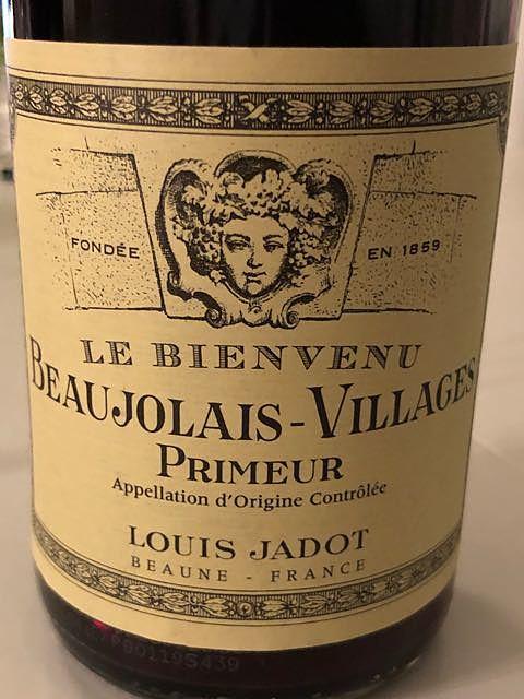 Louis Jadot Beaujolais Villages Primeur Le Bienvenu(ルイ・ジャド ボージョレ・ヴィラージュ プリムール ル・ビアンヴニュ)
