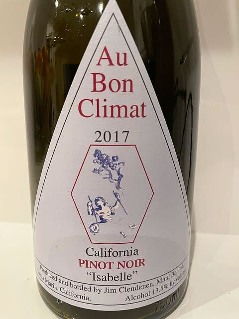 Au Bon Climat California Pinot Noir Isabelle(オー・ボン・クリマ カリフォルニア ピノ・ノワール イザベル)