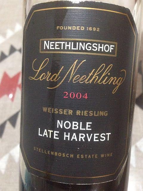 Neethlingshof Lord Neethling Noble Late Harvest Weisser Riesling