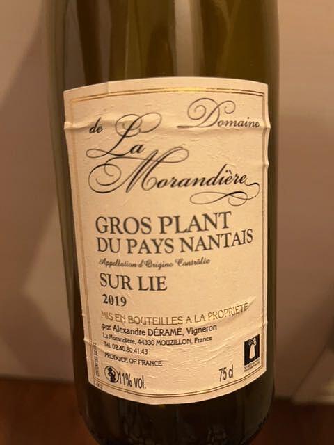 Dom. de la Morandière Gros Plant du Pays Nantais Sur Lie(ドメーヌ・ド・ラ・モランディエール グロ・プラン・デュ・ペイ・ナンテ シュール・リー)