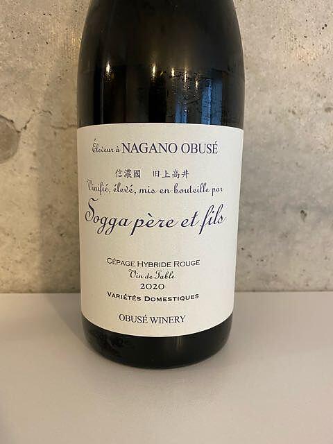 小布施ワイナリー Sogga Père et Fils Cépage Hybride Rouge Vin de Table de Nagano(Chabudai wine ちゃぶ台ワイン)