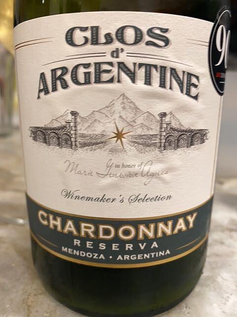 Clos d' Argentine Winemaker's Selection Chardonnay Reserva