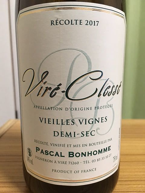 Pascal Bonhomme Viré Clessé Vieills Vignes Demi Sec(パスカル・ボノーム ヴィレ・クレッセ ヴィエイユ・ヴィーニュ ドゥミ・セック)