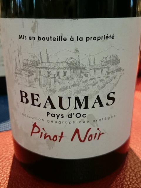 Beaumas Pays d'Oc Pinot Noir(ボーマ ペイ・ドック ピノ・ノワール)