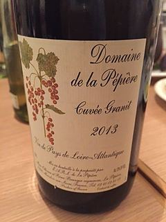 Dom. de la Pépière Cuvée Granit Rouge(ドメーヌ・ド・ラ・ペピエール キュヴェ・グラニ ルージュ)