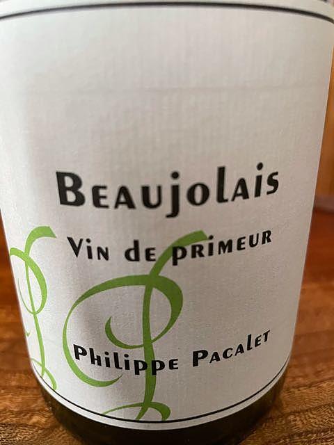 Philippe Pacalet Beaujolais Vin de Primeur Green Label(フィリップ・パカレ ボジョレー ヴァン・ド・プリムール グリーン・ラベル)