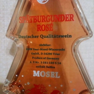 Mosel Rose Spatburgunder Christmas Tree Bottle
