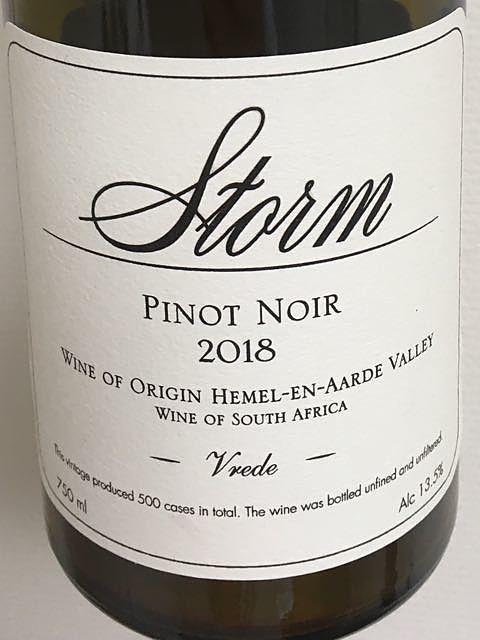 Storm Vrede Pinot Noir
