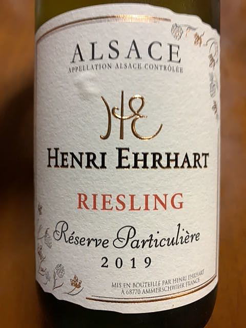 Henri Ehrhart Riesling Réserve Particulière(アンリ・エーラール リースリング レゼルヴ・パルティキュリエール)