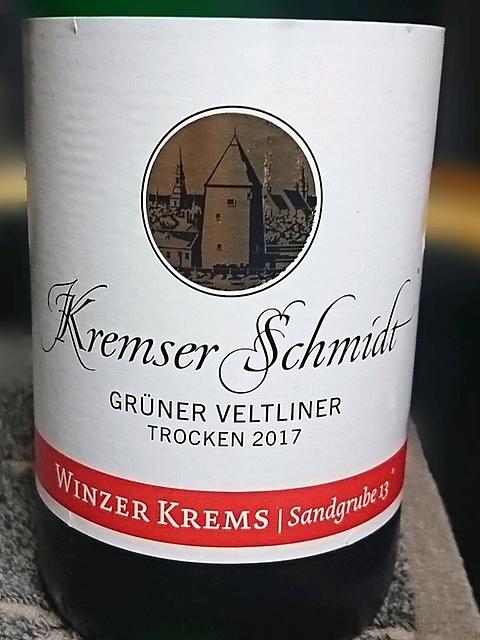 Winzer Krems Kremser Schmidt Grüner Veltliner trocken(ヴィンツァー・クレムス クレムザー・シュミット グリューナー・フェルトリーナー トロッケン)