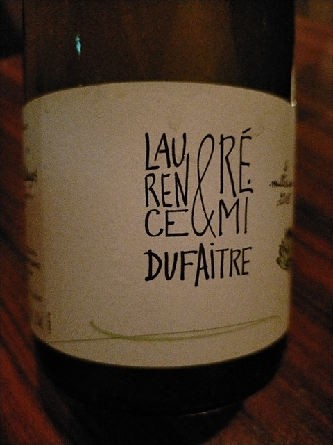 Laurence & Rémi Dufaitre Beaujolais Villages Blanc(ローレンス・エ・レミ・デュフェイトル ボージョレ・ヴィラージュ ブラン)
