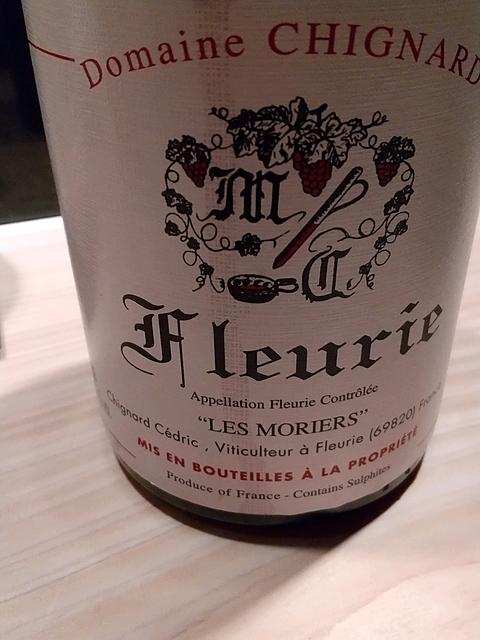 Dom. Chignard Fleurie Les Moriers(ドメーヌ・シニャール フルーリー・レ・モリエ)