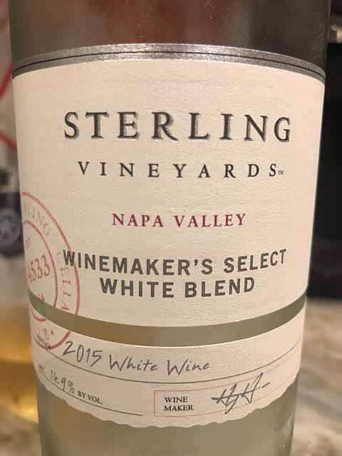 Sterling Vineyards Cellar Club Collection Winemaker's Select White Blend(スターリング・ヴィンヤーズ セラー・クラブ・コレクション ワインメーカーズ・セレクト ホワイト・ブレンド)