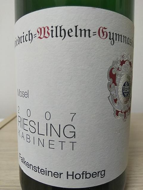 Friedrich Wilhelm Gymnasium Falkensteiner Hofberg Riesling Kabinett