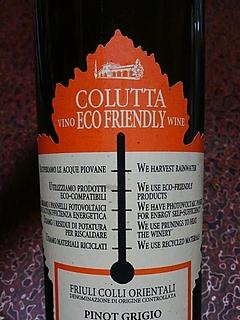 Colutta Eco Friendly Pinot Grigio(コルッタ エコ・フレンドリー ピノ・グリ―ジョ)