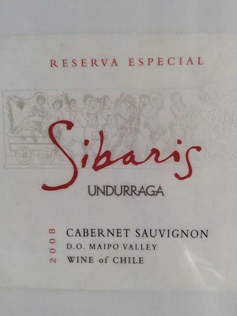 Undurraga Sibaris Cabernet Sauvignon Reserva Especial(ウンドラーガ シバリス カベルネ・ソーヴィニヨン レゼルヴァ・エスペシャル)
