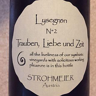 Strohmeier Trauben, Liebe und Zeit Lysegrøn N°2