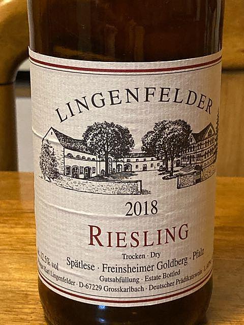 Lingenfelder Riesling Spätlese Trocken Dry
