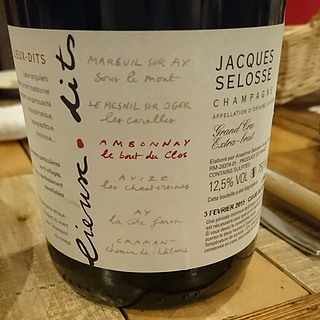 Jacques Selosse Lieux Dits Ambonnay Le Bout du Clos