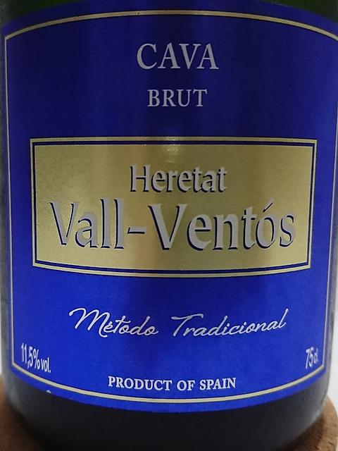 Heretat Vall Ventós Cava Brut(エルタット・ヴァル・ヴェントス カヴァ ブリュット)