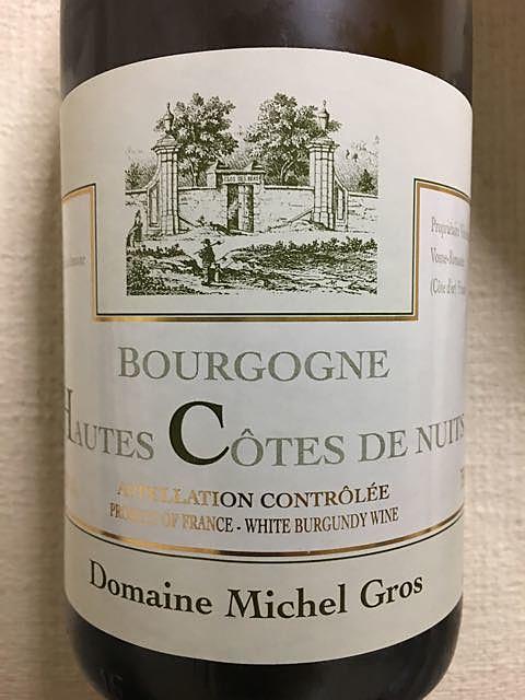 Dom. Michel Gros Bourgogne Hautes Côtes de Nuits Blanc