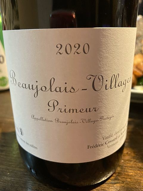 Frédéric Cossard et Kévin Descombes Beaujolais Villages Primeur(フレデリック・コサール・エ・ケヴィン・デコンブ ボージョレー・ヴィラージュ プリムール)
