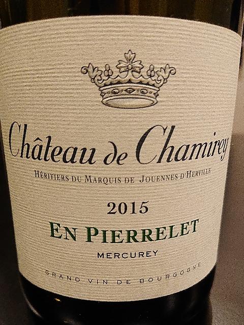 Ch. de Chamirey Mercurey En Pierrelet(シャトー・ド・シャミレー メルキュレイ)