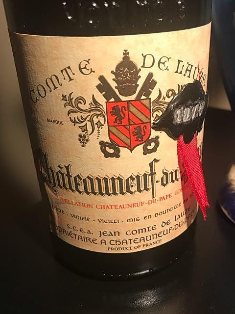 Comte de Lauze Châteauneuf du Pape Rouge(コント・ド・ローズ シャトーヌフ・デュ・パプ ルージュ)