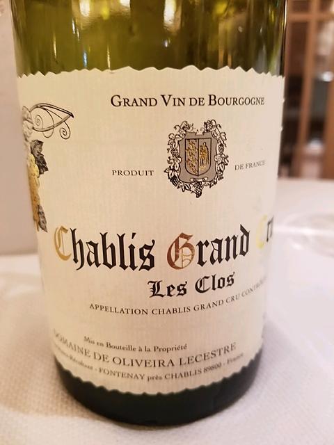 Dom. De Oliveira Lecestre Chablis Grand Cru Les Clos(ドメーヌ・ド・オリヴェラ・ルセスト シャブリ グラン・クリュ レ・クロ)