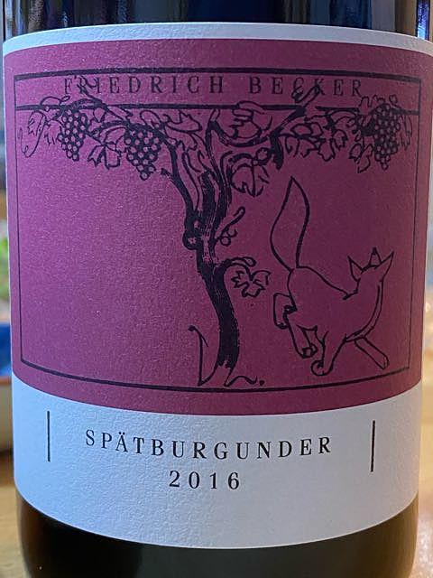 Friedrich Becker Spätburgunder (Pinot Noir)