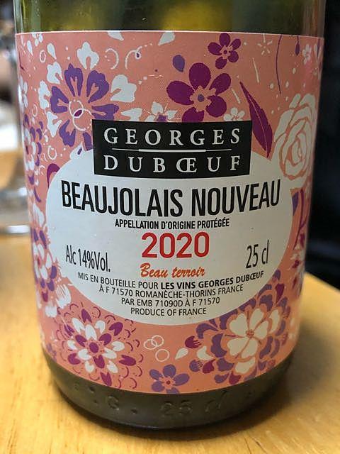 Georges Duboeuf Beaujolais Nouveau Beau terroir