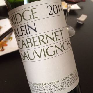 Ridge Klein Cabernet Sauvignon 2011