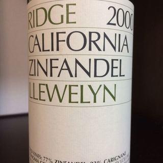 Ridge Llewelyn Zinfandel 2000