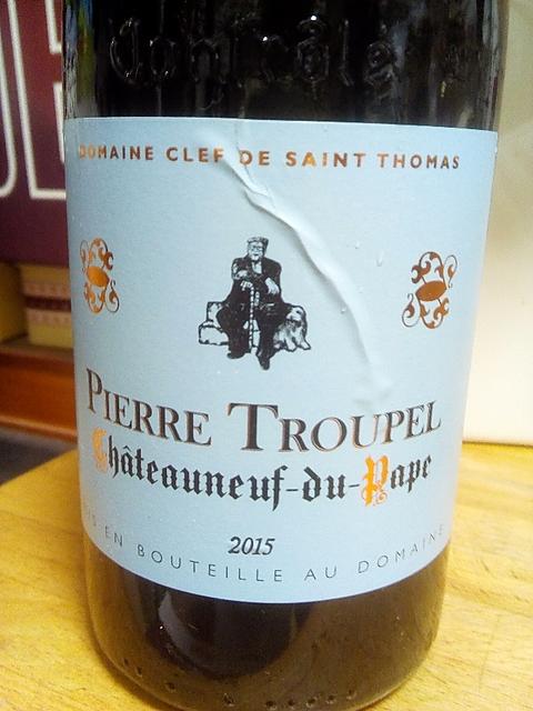 Dom. Clef de Saint Thomas Pierre Troupel Châteauneuf du Pape(ドメーヌ・クレ・ド・サン・トマ ピエール・トルペル シャトーヌフ・デュ・パプ)