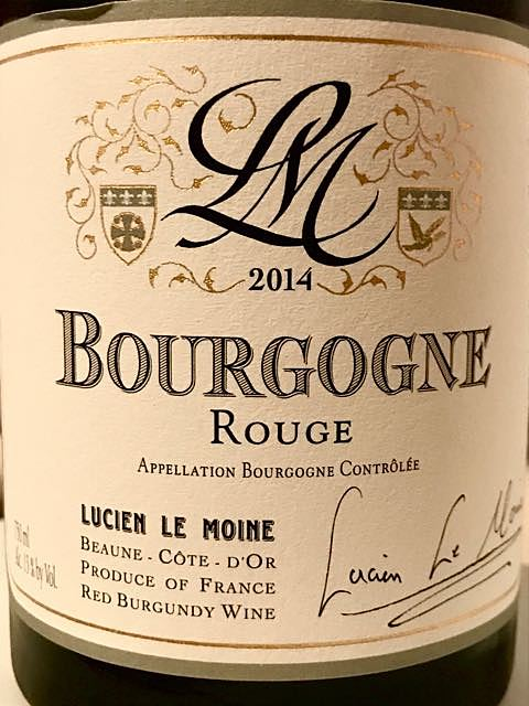 Lucien Le Moine Bourgogne Rouge(ルシアン・ル・モワンヌ ブルゴーニュ ルージュ)