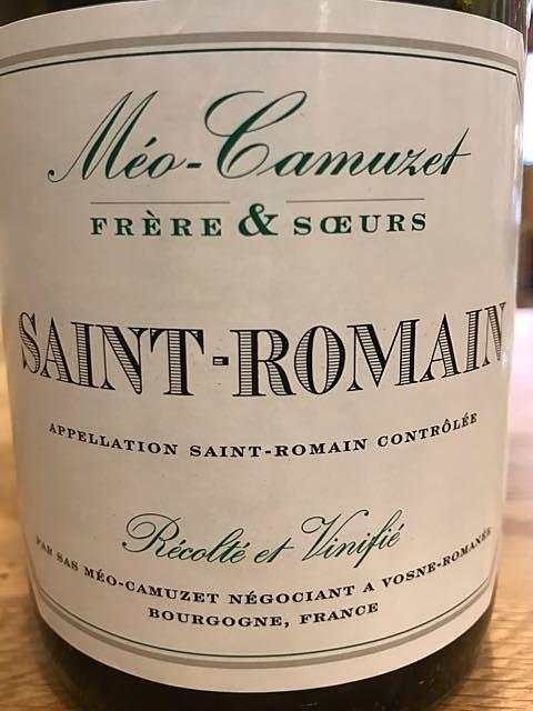 Méo Camuzet F&S Saint Romain Blanc(ドメーヌ・メオ・カミュゼ フレール・エ・スール サン・ロマン ブラン)