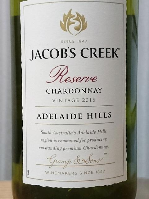Jacob's Creek Reserve Chardonnay Adelaide Hills