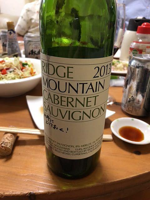 Ridge Mountain Cabernet Sauvignon 2013(リッジ マウンテン カベルネ・ソーヴィニヨン)