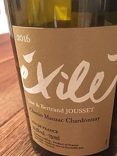 Lisa & Bertrand Jousset Exilé Chenin Mauzac Chardonnay(リサ・アンド・ベルトラン・ジュセ エグザイル シュナン モーザック シャルドネ)