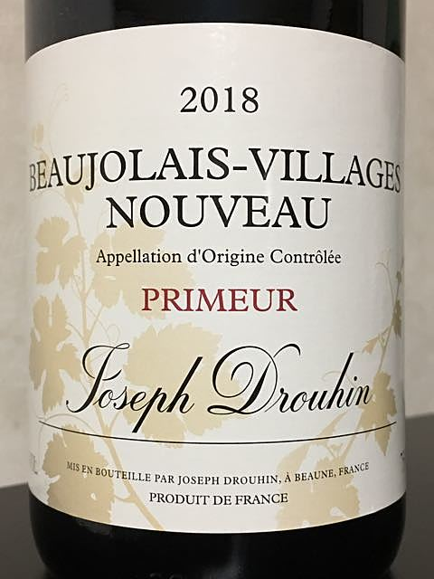 Joseph Drouhin Beaujolais Villages Nouveau Primeur(ジョゼフ・ドルーアン ボージョレ・ヴィラージュ ヌーヴォー プリムール)