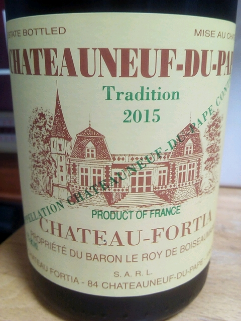 Ch. Fortia Châteauneuf du Pape Tradition(シャトー・フォルティア シャトー・ヌフ・デュ・パプ トラディション)